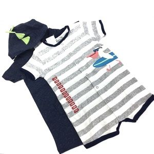 Carters Toddler Romper Boys Size 18 months Blue